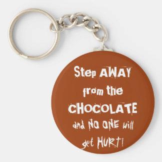 Chocoholic Chocolate Warning Key Chain