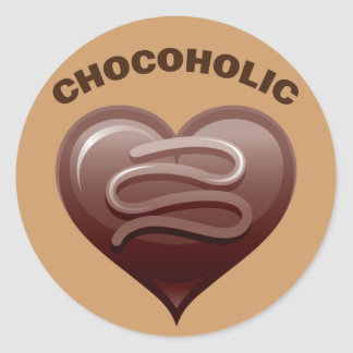 CHOCOHOLIC CLASSIC ROUND STICKER