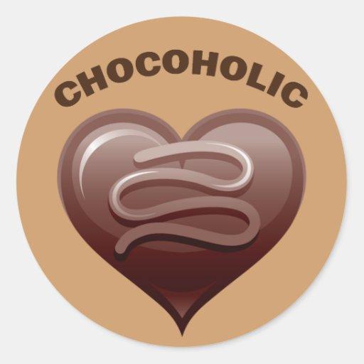 CHOCOHOLIC CLASSIC ROUND STICKER