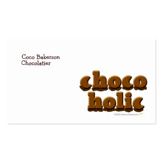 Chocoholic Customizable Chocolate Lovers Template Double-Sided Standard Business Cards (Pack Of 100)