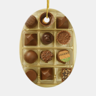 chocoholic dream ceramic ornament