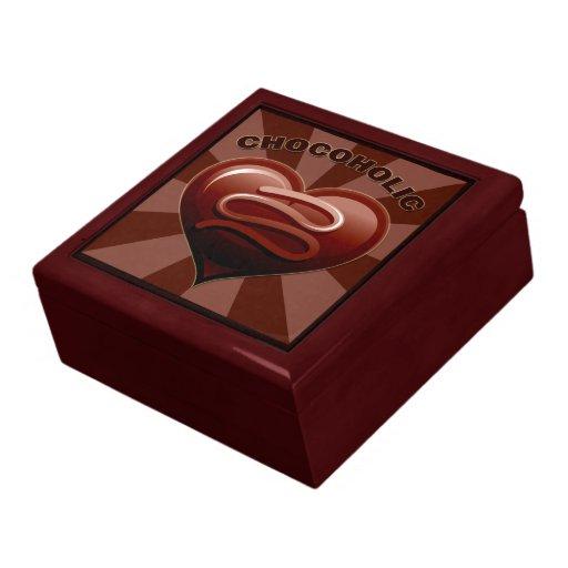 Chocoholic Keepsake Jewelry Gift Box