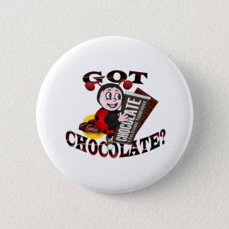 """Chocoholic Ladybug – """"Got Chocolate?"""" Design Button"""