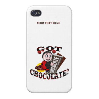 "Chocoholic Ladybug – ""Got Chocolate?"" Design iPhone 4/4S Case"