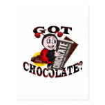 "Chocoholic Ladybug – ""Got Chocolate?"" Design Postcard"
