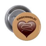 CHOCOHOLIC PIN REDONDO 5 CM