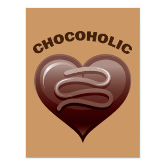 CHOCOHOLIC POSTCARD