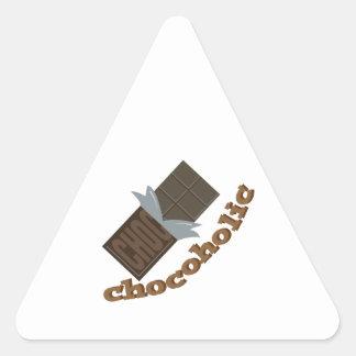 Chocoholic Triangle Sticker