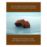 """Chocoholics Anonymous meetings 4.5"""" X 5.6"""" Flyer"""