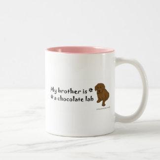 ChocoLabPuppyBrother Two-Tone Coffee Mug