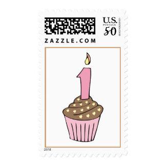 Chocolait First Birthday Cupcake Stamp