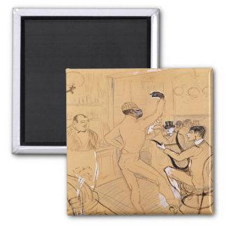 Chocolat Dancing, 1896 2 Inch Square Magnet