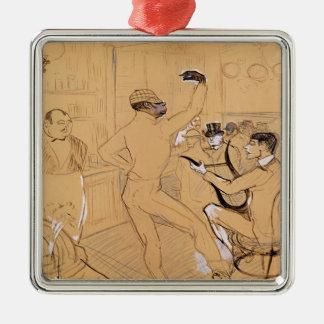Chocolat Dancing, 1896 Metal Ornament