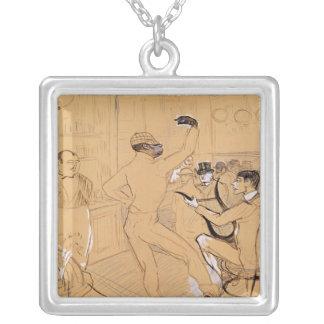 Chocolat Dancing, 1896 Square Pendant Necklace
