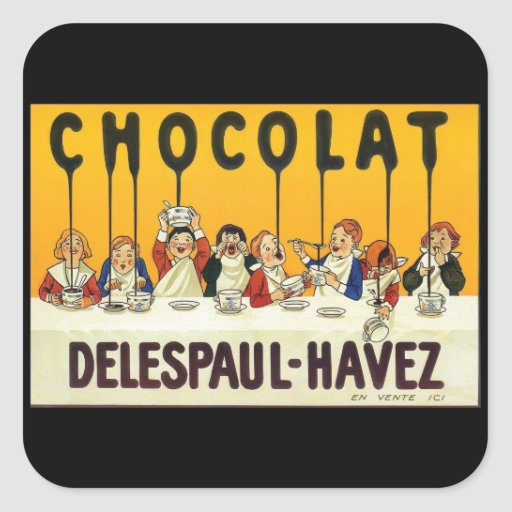 Chocolat Delespaul Havez Square Stickers