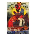 Chocolat du Sport Vintage PosterEurope Impresión En Lienzo