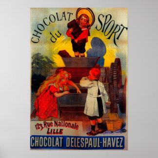 Chocolat du Sport Vintage PosterEurope Póster