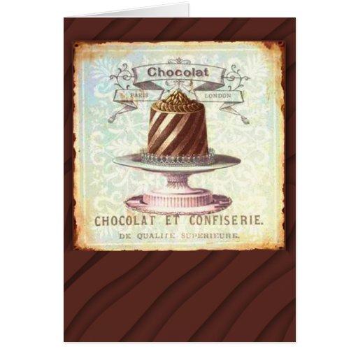 Chocolat et Confiserie Vintage Label Cards