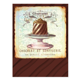 Chocolat et Confiserie Vintage Label Postcard