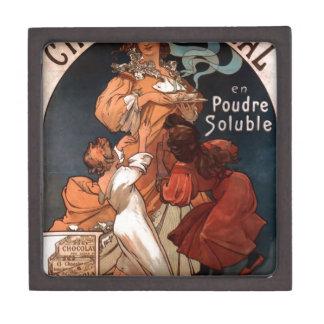 Chocolat Ideal by Alphonse Mucha Jewelry Box