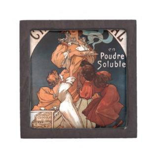 Chocolat Ideal by Alphonse Mucha Keepsake Box