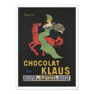 Chocolat Klaus Woman on Horse Card