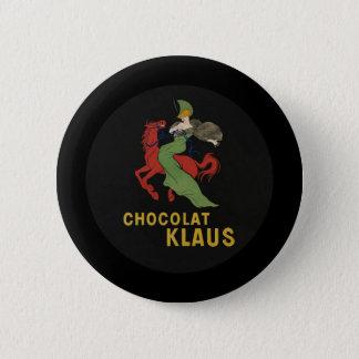 Chocolat Klaus Woman on Horse Pinback Button