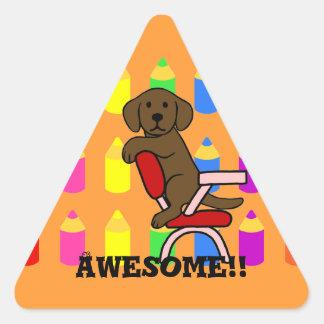 Chocolat Labrador Student 3 Cartoon Reward Stickers