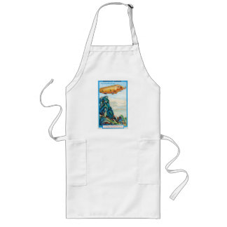 Chocolat Masson Ad with Zeppelin Airship Long Apron