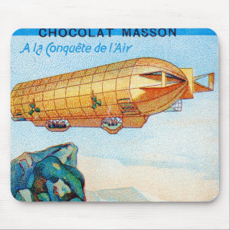 Chocolat Masson Ad with Zeppelin Airship Mouse Pad