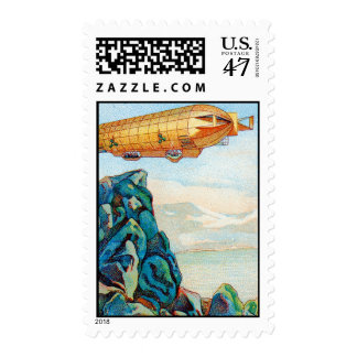 Chocolat Masson Ad with Zeppelin Airship Stamp