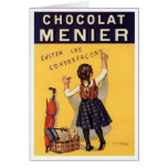chocolat menier ad greeting card