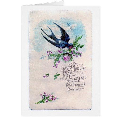 Chocolat Poulain, Greeting Card