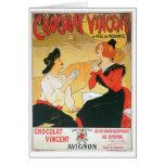 Chocolat Vincent Vintage Food Ad Art Greeting Cards