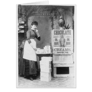 Chocolate 1887 de la marca del búho felicitación