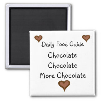 Chocolate 2 Inch Square Magnet