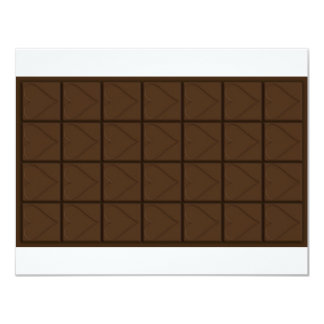Chocolate 4.25x5.5 Paper Invitation Card