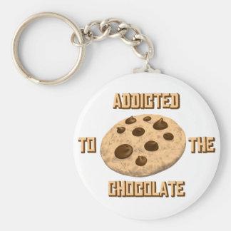 Chocolate Addict Basic Round Button Keychain