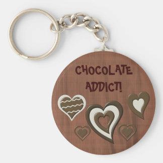 Chocolate Addict Keychain