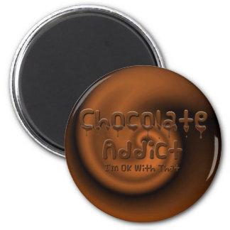 Chocolate Addict 2 Inch Round Magnet