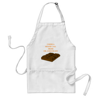 chocolate adult apron