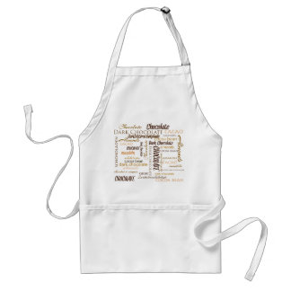 Chocolate, Almonds and Dark Chocolate Text Design Adult Apron