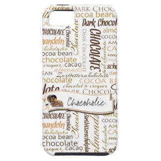 Chocolate, Almonds and Dark Chocolate Text Design iPhone SE/5/5s Case