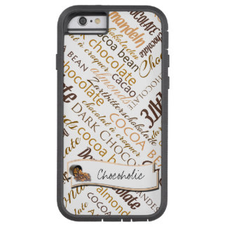 Chocolate, Almonds and Dark Chocolate Text Design Tough Xtreme iPhone 6 Case
