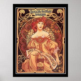 Chocolate Amatller Vintage Poster alphons mucha