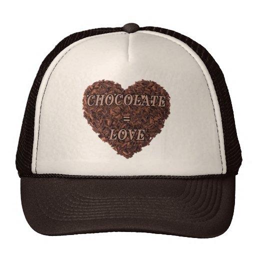 Chocolate = amor gorras