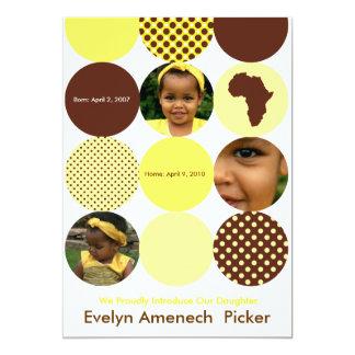 Chocolate and Bananna Circles Card