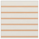[ Thumbnail: Chocolate and Beige Colored Striped Pattern Fabric ]