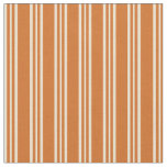 [ Thumbnail: Chocolate and Beige Lines Fabric ]