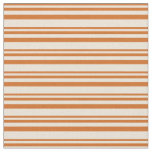 [ Thumbnail: Chocolate and Bisque Colored Lines Fabric ]